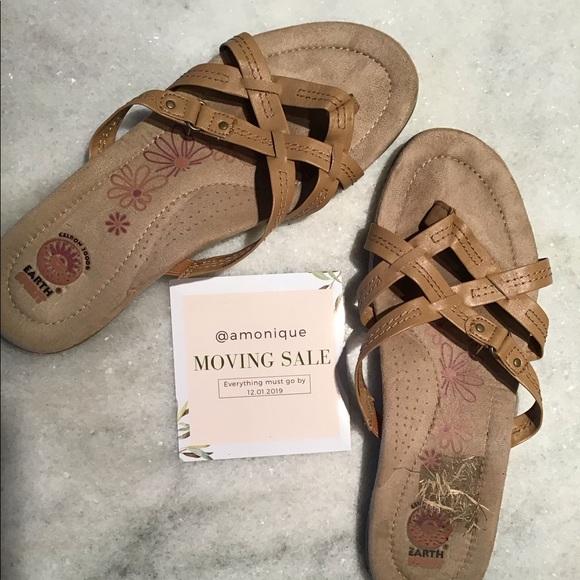 Earth Spirit Shoes - brown comfy Earth Spirit sandals